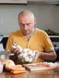 Man preparing meat Royalty Free Stock Photography