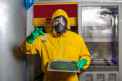 Man preparing meth Stock Photos