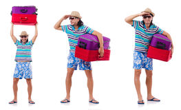 Man preparing for this summer vacation Stock Images
