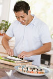 Man Preparing Sushi Royalty Free Stock Image