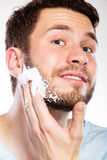 Man preparing to shave Royalty Free Stock Photo
