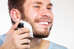 Man preparing to shave Royalty Free Stock Photos