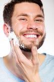Man preparing to shave Royalty Free Stock Image