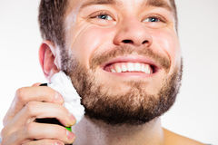 Man preparing to shave Royalty Free Stock Photo