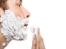 Man preparing to shave Royalty Free Stock Images