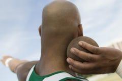 Free Man Preparing To Toss Shot Put Royalty Free Stock Images - 30843879