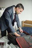 A man preparing to travel Royalty Free Stock Images