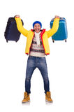 Man preparing. For winter vacation Royalty Free Stock Images