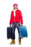 Man preparing for winter vacation Stock Photo