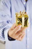 Man with present Stock Photography