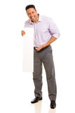 Man presenting blank board Royalty Free Stock Photography