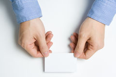 Man presenting business card Stock Photos