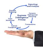 Business Intelligence Process. Man presenting Business Intelligence Process Royalty Free Stock Image
