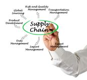 Components of Supply Chain. Man presenting Components of Supply Chain Stock Photos
