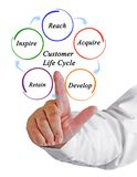 Customer Life Cycle Royalty Free Stock Image