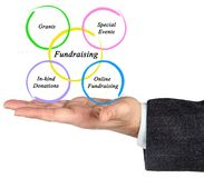 Diagram of Fundraising. Man presenting Diagram of Fundraising Royalty Free Stock Photos