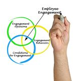 Employee Engagement. Man presenting Employee Engagement Conditions Royalty Free Stock Images