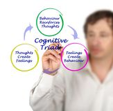 Cognitive Triad. Man presenting interactions within Cognitive Triad Royalty Free Stock Images