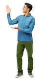 Man Presenting Invisible Product Stock Image
