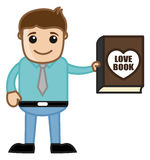Man Presenting a Love Book Vector Illustration Stock Image