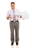 Man presenting paper house Royalty Free Stock Photography