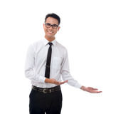 Man presenting something Royalty Free Stock Photography