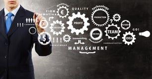 Man presenting teamwork concept Stock Photo