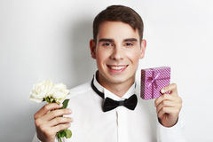 Man with presents Royalty Free Stock Photography