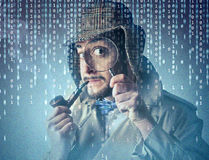 Man pretending to be a detective Royalty Free Stock Photography