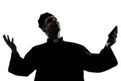 Man priest silhouette Royalty Free Stock Image