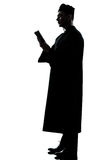 Man priest silhouette Royalty Free Stock Images
