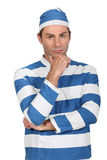 Man in prison Fancy Dress Royalty Free Stock Images