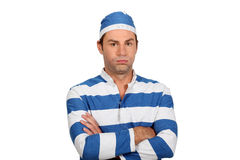 Man in prison uniform Stock Photo