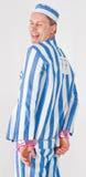 Man in Prisoner Costume Royalty Free Stock Images