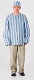 Man in Prisoner Costume Stock Photo