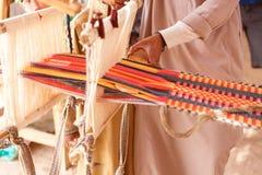 Man produces the fabric Royalty Free Stock Photos