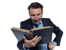 Man professsor teacher teaching reading book Stock Images