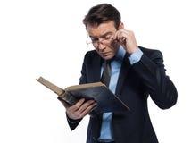 Man professsor teacher teaching reading  book Royalty Free Stock Photography