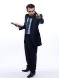 Man professsor teacher teaching reading  book Royalty Free Stock Photo