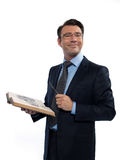 Man professsor teacher teaching reading book Royalty Free Stock Photos