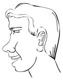 Man Profile. A drawing of a man's profile Stock Photo