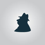 Man profile in hat icon Stock Image