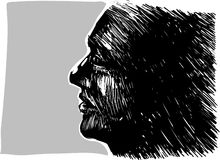 Man profile portrait Stock Image