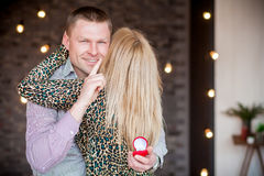 A man proposes to his woman Stock Photography