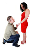 A man proposing. Stock Images