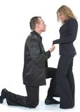 Man proposing to woman Royalty Free Stock Image