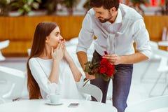 Man proposing to woman Stock Image