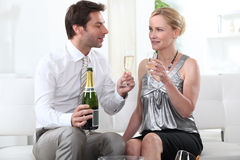 Man proposing a toast Royalty Free Stock Photography