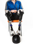 A man with a prosthetic Stock Images
