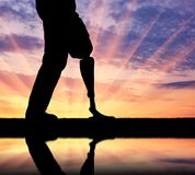 Concept of prosthetic limbs royalty free stock photography